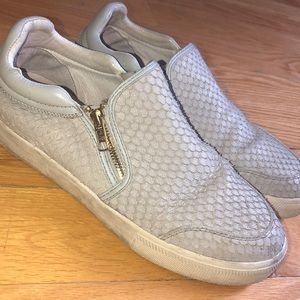 ASH Light Grey Slip-on Sneakers